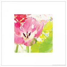 IKEA Bild Art Poster Print Floral Motif Judy Stalus Pink Chartreuse Lime Flower