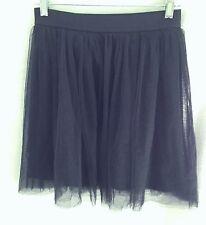 Lauren Conrad Black Pleated Tulle Skirt - Size Small