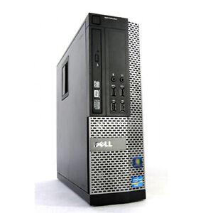 Dell Optiplex  Windows 10 Pro Desktop Computer SFF Quad Core i5 3.2GHz 8GB 500GB