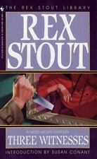 Nero Wolfe Ser.: Three Witnesses 26 by Rex Stout (1994, Paperback)
