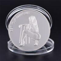 Pièce D'Argent Sexy Femme Chance Collection Arts Cadeaux Bitcoin Souvenir FE