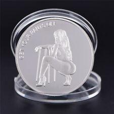 Pièce d'argent Sexy femme chance Collection Arts cadeaux Bitcoin Souvenir