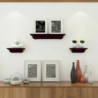Set of 3 Fireplace Mantel Shelf Ledge Floating Wall Mounted Shelves Decoration