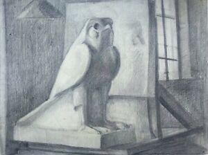 J (Jean) Betourne French Signed Original 1935 Charcoal Drawing Still Life Study