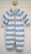 Boys BABY GAP Sz 3 6m Blue White Stripe l/s Thin Sweater One Piece Pants Romper
