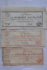 Directoire - 3 promesses de mandats territoriaux - An IV - 1796