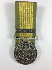 National Emergency Medal QLD 2010-11 mounted replica