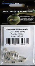 FISHINGGLUE-Glasrasseln mittel (5 mm) zum Gummifisch tunen GUMMIFISCHKLEBER