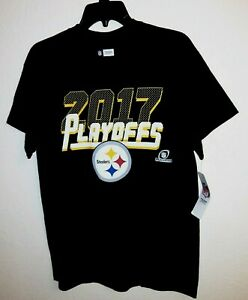 New Pittsburgh Steelers T Shirt NFL Football 2017 Playoffs AFC  Size L 42 x 30
