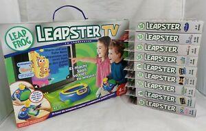 Leapfrog Leapster TV-Lernsystem Konsole mit 10 Lernspielen / Neu & Ovp