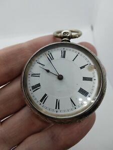 Solid Silver Pocket Watch - Key Wind