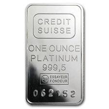 1 oz Platinum Bar - Mint Varies - SKU #61