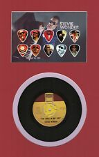 Stevie Wonder Matted Picture Guitar Pick Set Limited 45 For Once In My Life