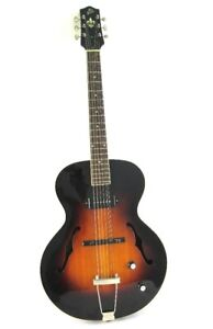 LH-309 The Loar Archtop Guitar, Hand Carved Solid Top with Single P90 Sunburst