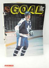 Vintage Goal Hockey Magazine Rick Vaive w/ Stats