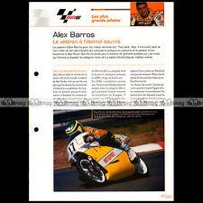 #gp01.017 ★ ALEX BARROS ★ Pilote Moto Fiche MotoGP
