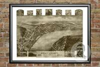 Old Map of Duncannon, PA from 1903 - Vintage Pennsylvania Art, Historic Decor