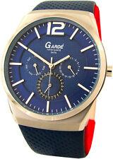 Garde Ruhla-Quartz Herrenuhr Tag Datum 24hday date unisex design watch 3ATM blau