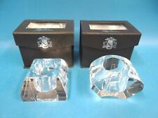 Vintage Crystal Votive Oleg Cassini Deo Candle Holders with Boxes Pyramid