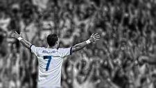 "Cristiano Ronaldo Football Soccer Star Fabric Poster 24"" x 13""  Decor 38"