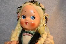 Celluloid & Cloth Polish Doll Ethnic Clothing + Moveable Wired Hip Joints VTG