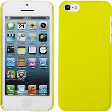 Coque Rigide Apple iPhone 5c - gommée jaune + films de protection