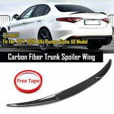 For 2017-21 ALFA ROMEO Giulia QUADRIFOGLIO Style Carbon Fiber Trunk Spoiler Wing