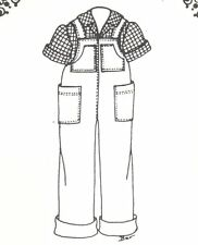 "boy girl Doll clothes SEWING PATTERN fits 17 18"" pant/overalls shirt msd BJD 217"