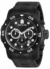 Invicta Mens Pro Diver Collection Chronograph Black Ion-Plated Stainless Steel