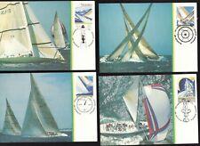 4 FDC type postcards - Australia - 1987 - America's Cup.- unposted- superfleas