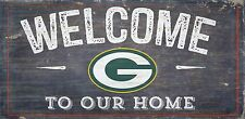 "Green Bay Packers Welcome to our Home Wood Sign - NEW 12"" x 6""  Decoration Gift"