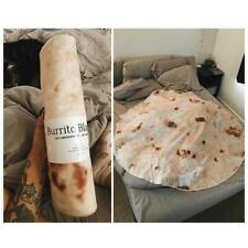 New Burrito Blanket Throw Tortilla Texture Soft Fleece Throw Blanket Super Soft