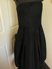 Ladies Zara Basics Black Bubble Strapless Dress Made in Morrocco Size L EUR