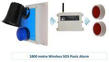 1200 Metre Wireless 'S' Range Loud 118 Decibel Panic & Lockdown Alarm