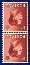 1936 Sg459Wi 1½d Red-Brown (Wmk Inv) P3a Vertical Pair Mnh Unmounted Mint ailb