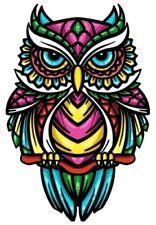 Owl Bird Iron-On Decal Transfer (For T Shirts, etc) 15.5 cm x 10 cm Unicorn Tige