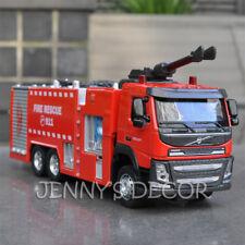 1:50 Diecast Metal Model Toys Volvo Fire Engine Truck Pumper Sound Light Replica
