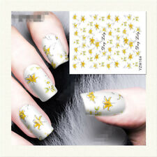 Flower Water Decals Nail Art Transfer Stickers Manicure Decoration YZW164
