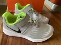 Nike Star Runner (PSV) Kids Youth Sneakers Shoes Size 11C Wolf Grey/Black/White