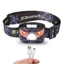 Head Torch, Blusmart Headlamp LED Rechargeable USB CREE Headlight NEW