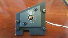 F18 HORNET FIRE TEST CONTROL PANEL ASSY WITH SWITCH 74A800764-1013 AIRCRAFT PART