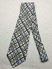 Vintage Men's Necktie Tie Classic Style Pront Thatch Abstract Retro Textured