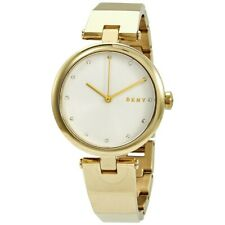 DKNY Eastside Quartz Silver Dial Gold Tone Crystal Marker Ladies Watch NY2712