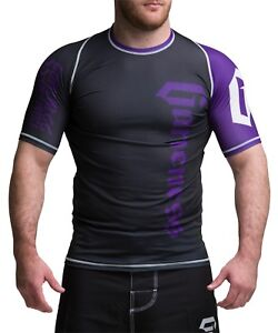 Gameness Purple Short-Sleeve Pro Rank Rash Guard