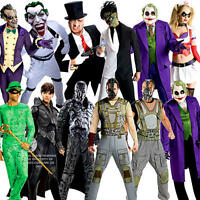 Halloween Villains Adults Fancy Dress Book Week DC Character Mens Ladies Costume