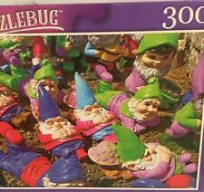 Jigsaw Puzzle 300pc - Resting Garden Gnomes By Puzzlebug New Unopened