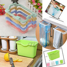 Portable Kitchen Trash Bag Holder Cabinets Cloth Rack Towel Rack