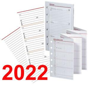 BSB A6 (kompakt) Kalendereinlagen 2022, Ersatzeinlagen (Notizen,Adressen,Tages.)