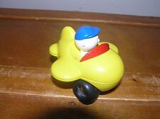 Estate Caillou in Small Plastic Yellow Airplane with Three Wheels – 3.5 x 3.25