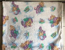 B2 Vintage Dragon & Teddy Bear Baby Security Blanket! Magical Castle Clouds